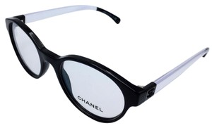 Chanel Round Retro Style Black and Clear RX Eyeglasses Frame 3273 c.501