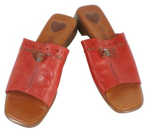 Brighton Java Leather Red Sandals