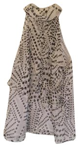 Cynthia Rowley white with black and white polka dots Halter Top