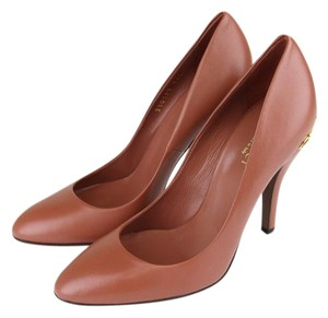 Gucci Elizabeth Leather Horsebit Brick Red Pumps