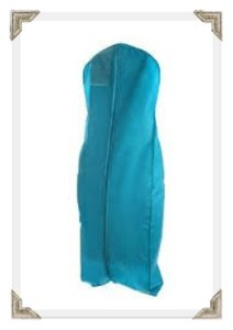 The Last Minute Bride Turquoise Breathable Zippered Garment Bag with Gusseted Bottom