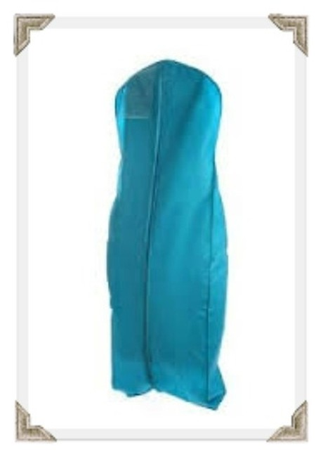 Item - Turquoise Breathable Zippered Garment Bag with Gusseted Bottom