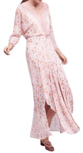 Pink floral Maxi Dress by Anthropologie