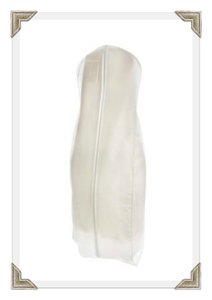 Breathable White Zippered Garment Bag With Gusseted Bottom