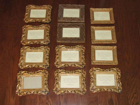 Gold Picture Frames Reception Decoration