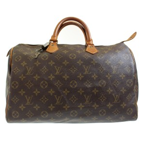 Louis Vuitton Speedy 35 Alma Monogram Satchel in Brown