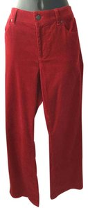 Talbots Boot Cut Pants Red