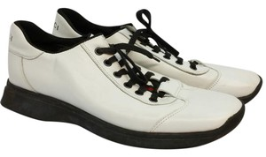 Gucci White Leather Sneakers Flats