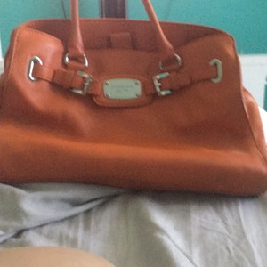Michael Kors Collection Satchel in vibrant orange