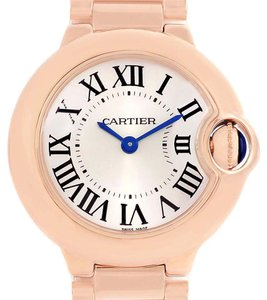 Cartier Cartier Ballon Blue 18K Rose Gold Small Ladies Watch W69002Z2