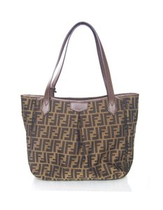 Fendi Zucca Print Canvas Monogram Tote in Brown