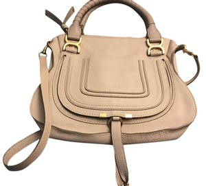 Chloé Satchel in Abstract White (pink)