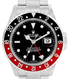 Rolex Rolex GMT Master Red Black Coke Bezel Stainless Steel Mens Watch 16700