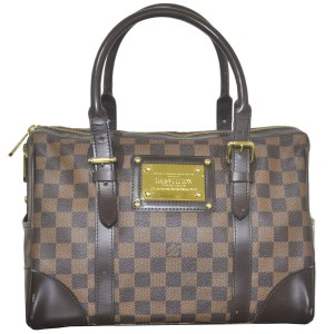 Louis Vuitton Berkeley Damier Ebene Handbag Satchel in Brown