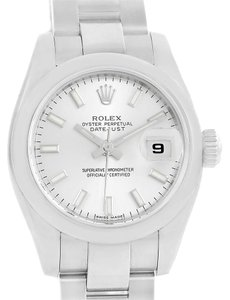Rolex Rolex Datejust Silver Baton Dial Stainless Steel Ladies Watch 179160
