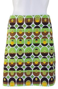 Etcetera Stretch Pockets Print Skirt Green