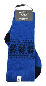 Abercrombie & Fitch Wool Blend Snow Flake Slouchy Boot Sock