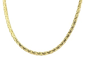 Other Thick Braided Wheat Chain Necklace in 14k Yellow Gold
