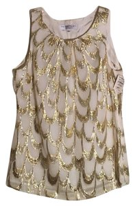 Trina Turk Top cream, gold, silver