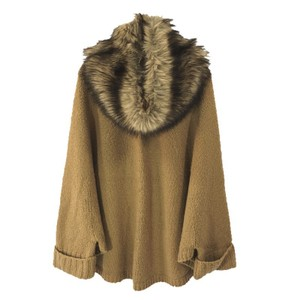 MICHAEL Michael Kors Faux Fur Knit Wool Winter Cape