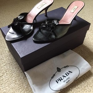 Prada Nude-Nero Sandals