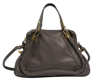 Chloé Chloe Leather Satchel in Grey