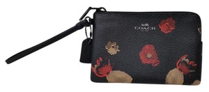 Coach Multi Floral Wristlet in Black