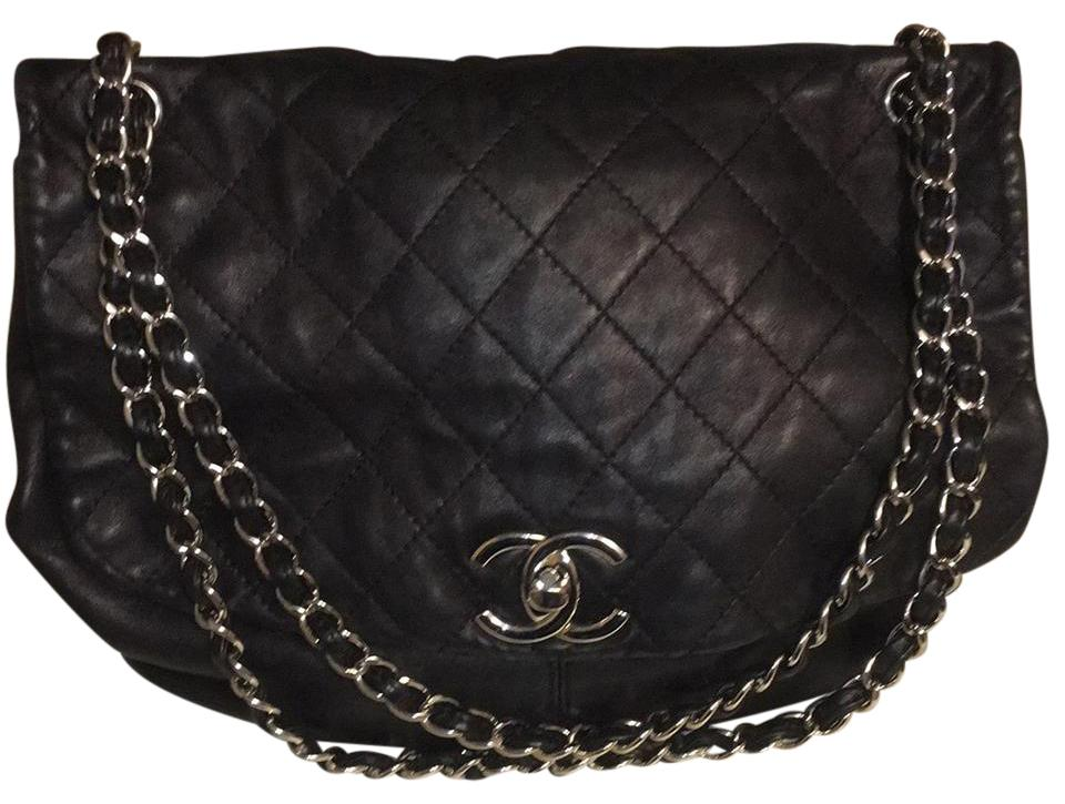 94f3c858d3bc Chanel Trianon Black Lambskin Leather Shoulder Bag - Tradesy