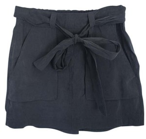 Old Navy Silk Mini Skirt Black