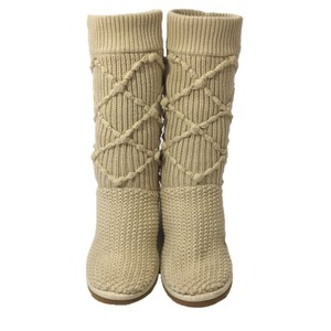 UGG Australia Sheepskin Argyle Wool Winter CREAM Boots