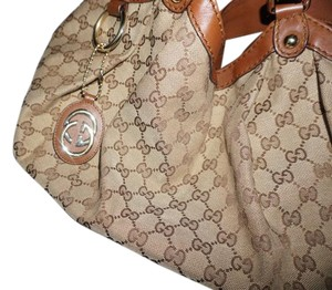 Gucci Large Canvas Gg Sukey Tote in Brown Monogram (cloth fabric)