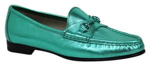 Gucci Women's Leather Metallic Green Flats