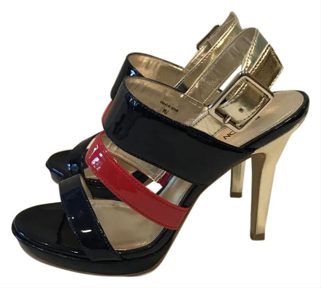 Item - Multi-color Patent (Navy Red and Gold) Pumps Size US 7 Regular (M, B)