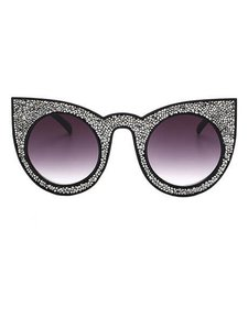Other Silver Crystal Stone Cat Eye Sunglasses