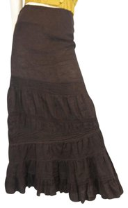 Anthropologie Maxi Skirt brown