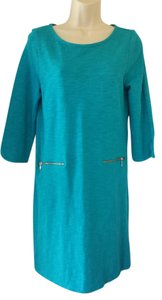 Talbots short dress turquoise on Tradesy