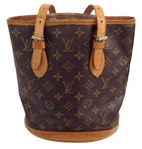 Louis Vuitton Bucket Pm Speedy Tote in Brown