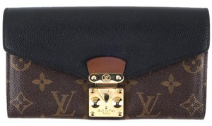 Louis Vuitton Louis Vuitton Brown Monogram & Black Leather Pallas Wallet