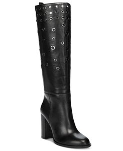Nine West Studded Leather Vintage Quatrina Black Boots