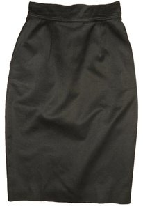 Patrick Kelly Vintage Wiggle Designer Pencil Skirt Black