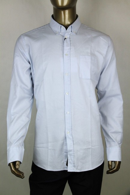 Item - Blue Men's Washed Oxford Cotton Dress Shirt It 44 308399 4132 Groomsman Gift
