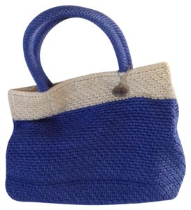 The Sak Tote in Blue and white