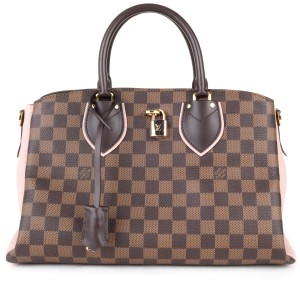 Louis Vuitton Satchel in Brown Damier & Pink