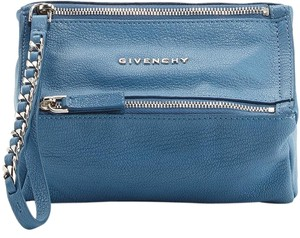 Givenchy Pandora Blue Pouch Wristlet in Turquoise