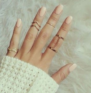 Set Of 5 Half Rings Free Shipping