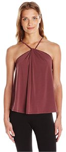 BCBGeneration High Neck Top Eggplant