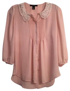 Forever 21 Top peach with ivory