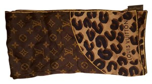 Louis Vuitton Louis Vuitton Leapord and Monogram Square Scarf
