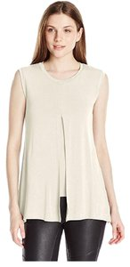 BCBGMAXAZRIA Bcbgeneration High-low Sleeveless T Shirt Off White
