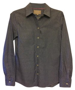 Banana Republic Anchor Oxford Button Down Shirt Blue